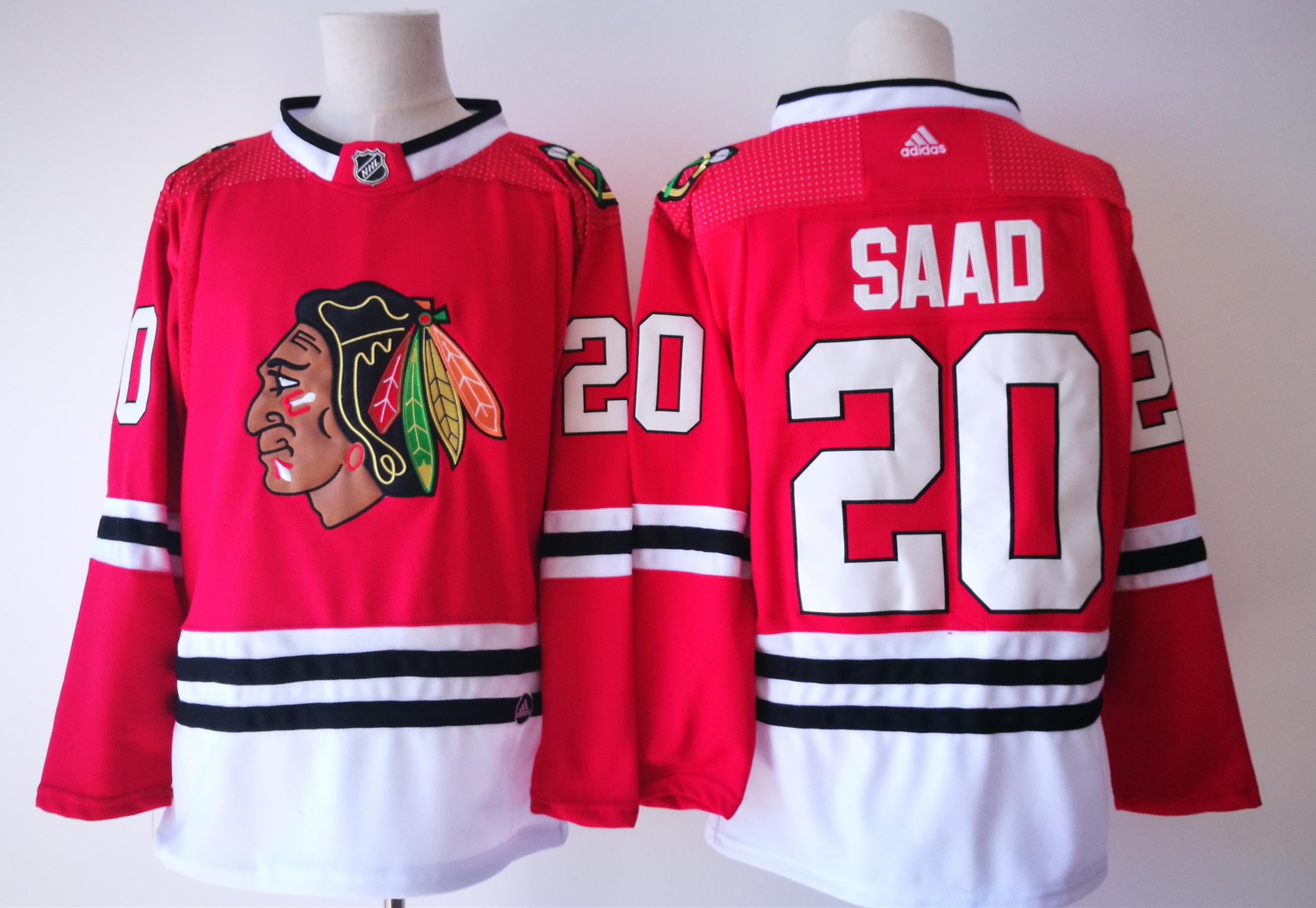 Blackhawks 20 Brandon Saad Red Adidas Jersey