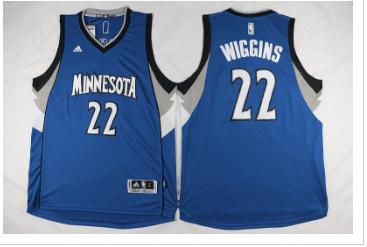 Timberwolves 22 Andrew Wiggins Blue Swingman Jersey