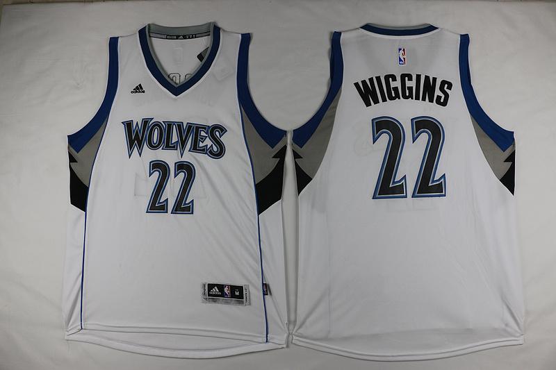 Timberwolves 22 Andrew Wiggins White Swingman Jersey
