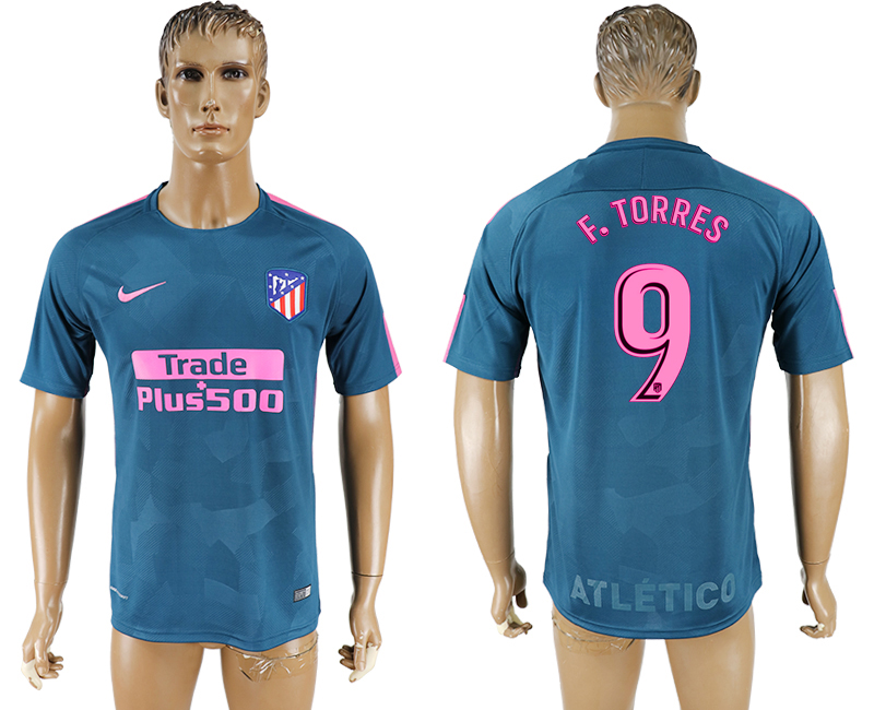 2017-18 Atletico Madrid 9 F.TORRES Third Away Thailand Soccer Jersey