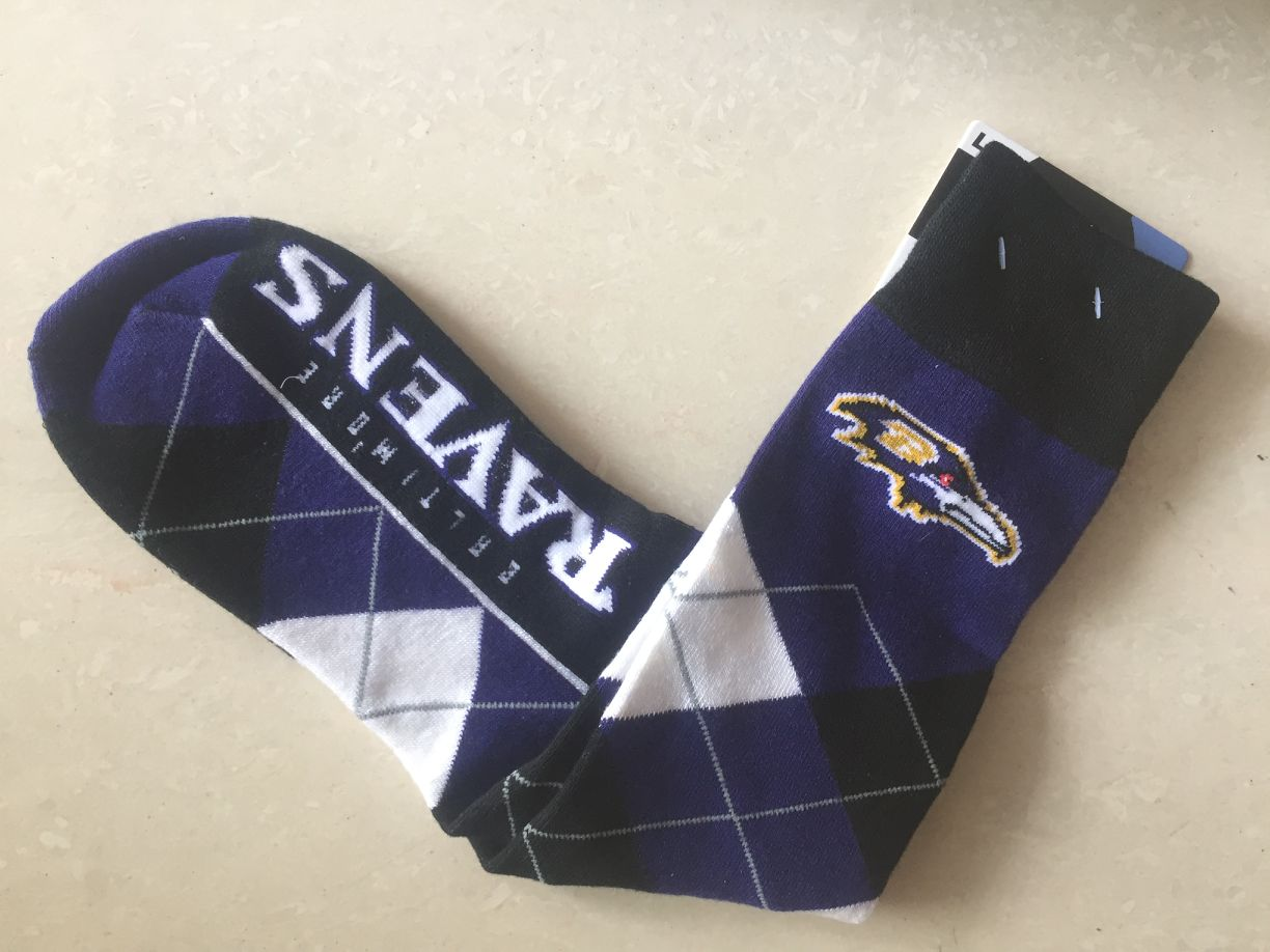 Baltimore Ravens Team Logo NFL Socks