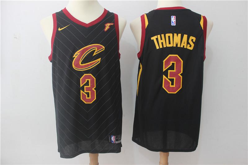 Cavaliers 3 Isaiah Thomas Black Nike Swingman Jersey