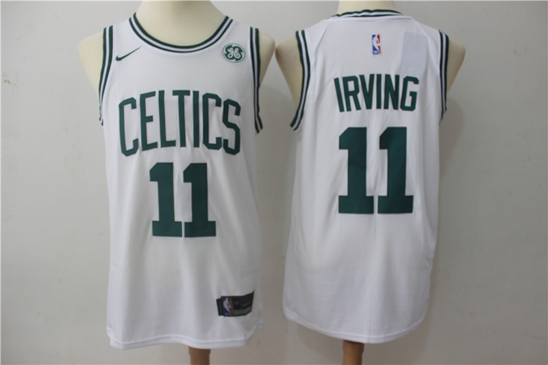 Celtics 11 Kyrie Irving White Nike Swingman Jersey
