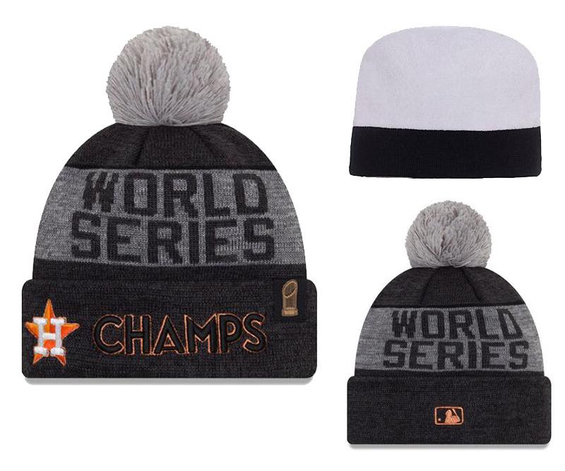 Astros Graphite 2017 World Series Champions Locker Room Knit Hat