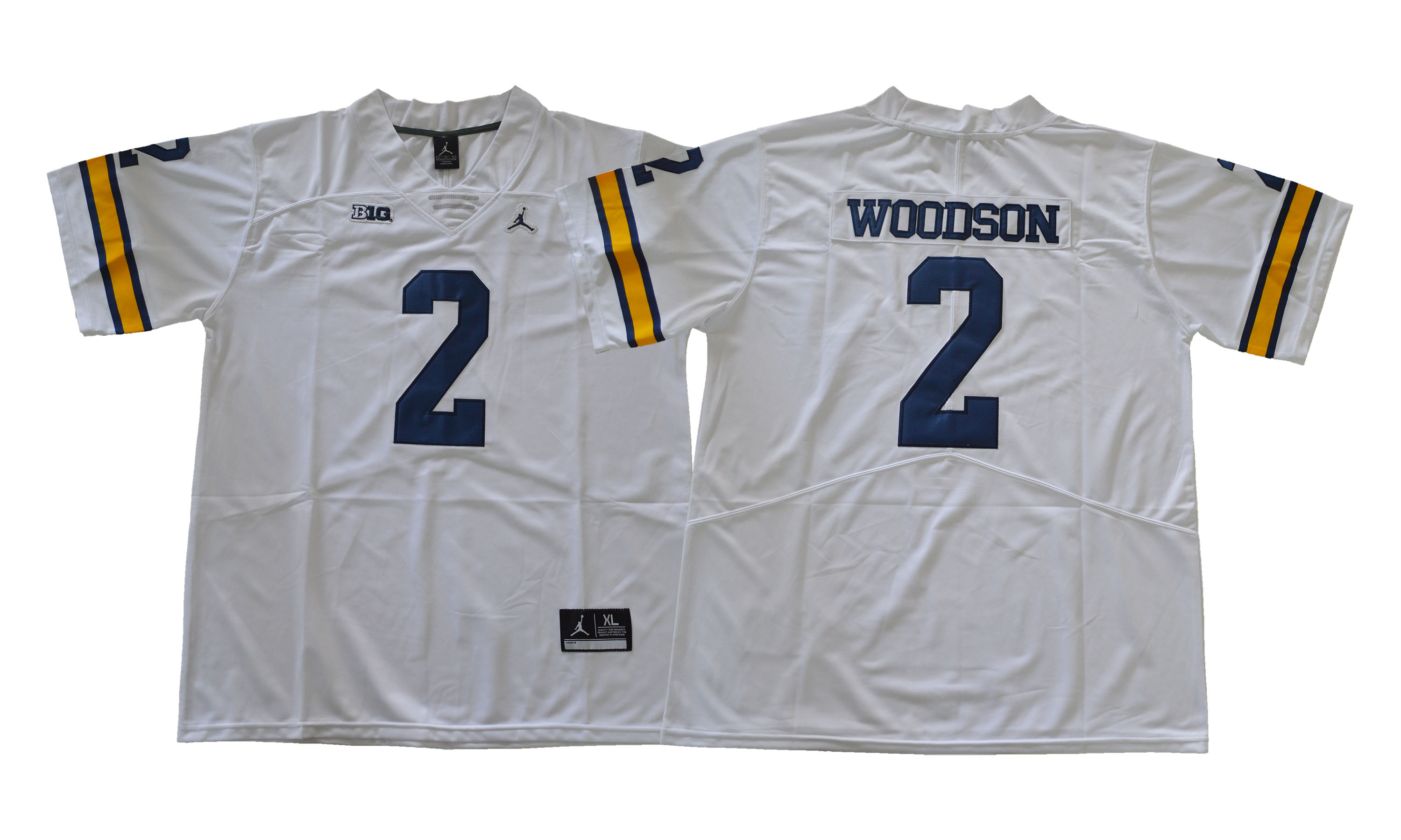 Michigan Wolverines 2 Charles Woodson White College Football Jersey