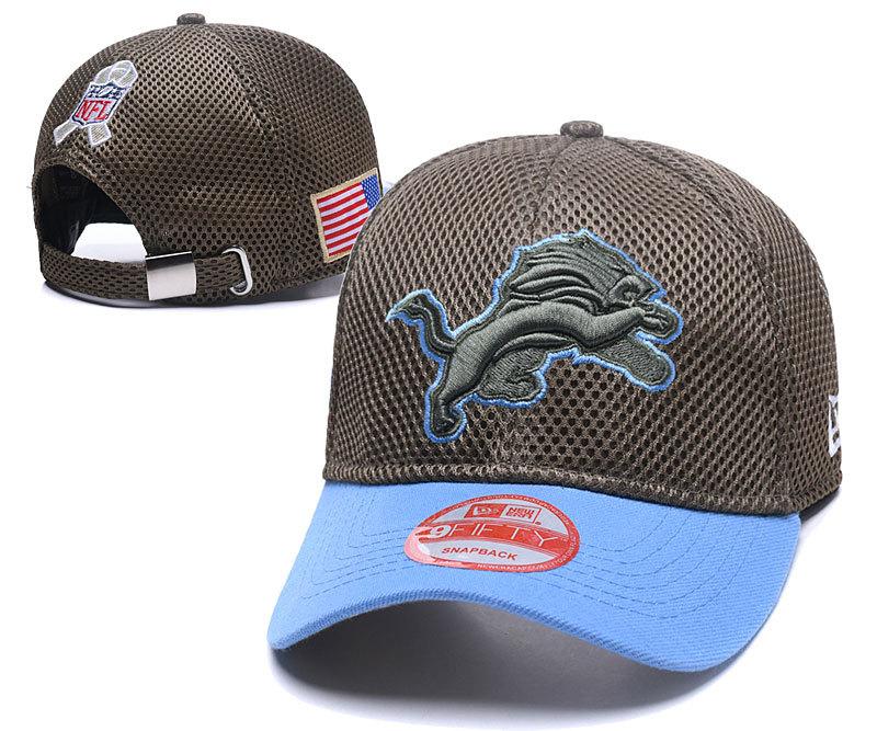 Lions Team Logo Peaked Adjustable Hat XDF
