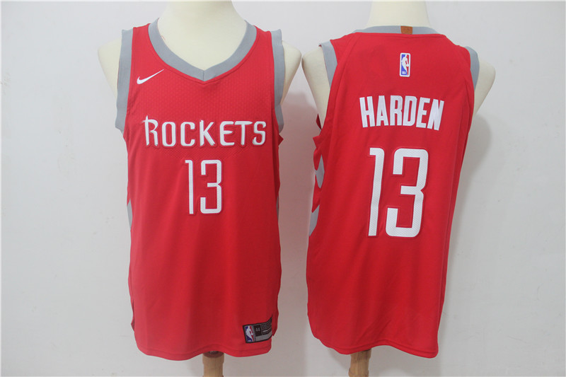 Rockets 13 James Harden Red Nike Authentic Jersey