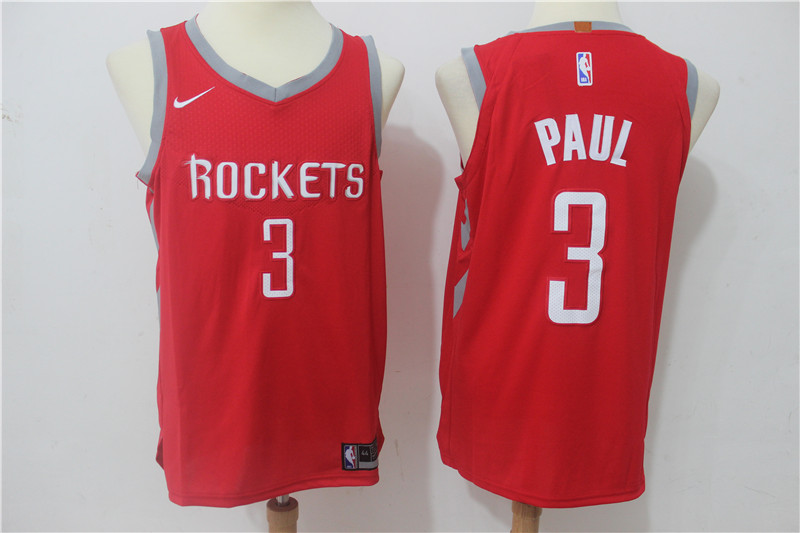 Rockets 3 Chris Paul Red Nike Authentic Jersey