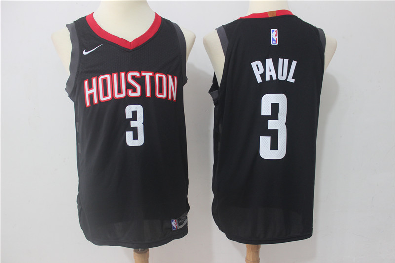 Rockets 3 Chris Paul Black Nike Authentic Jersey