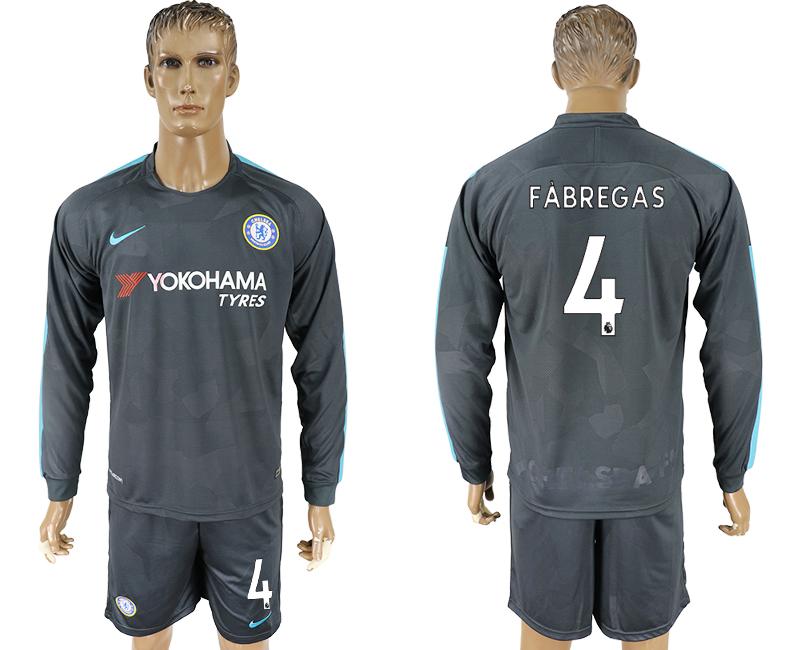 2017-18 Chelsea 4 FABREGAS Third Away Long Sleeve Soccer Jersey