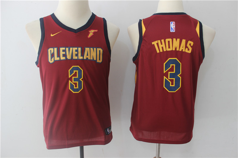 Cavaliers 3 Isaiah Thomas Red Youth Nike Swingman Jersey