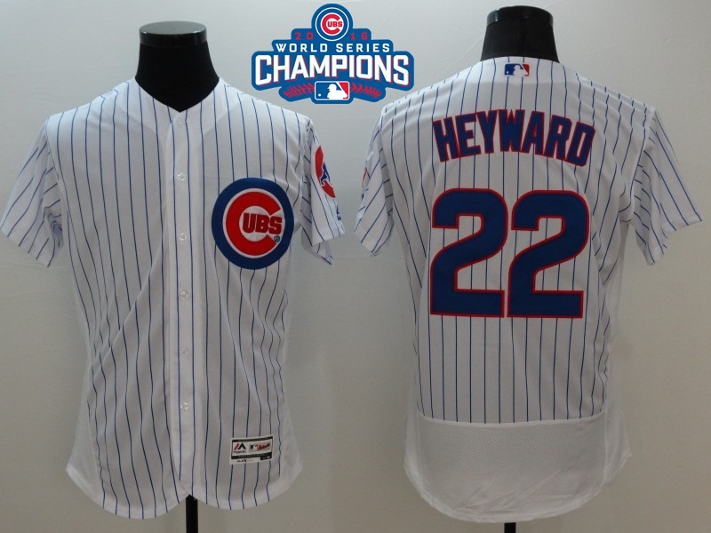 Cubs 22 Jason Heyward White 2016 World Series Champions Flexbase Jersey