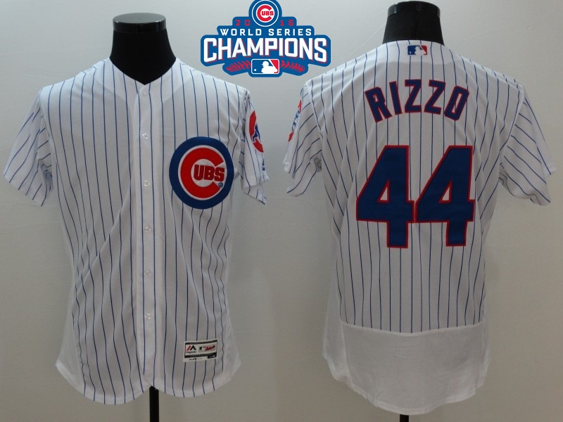 Cubs 44 Anthony Rizzo White 2016 World Series Champions Flexbase Jersey