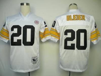 Steelers 20 Rocky Bleier White Throwback Jersey