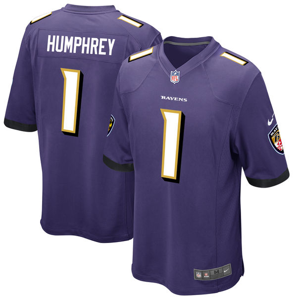 Nike Baltimore Ravens Marlon Humphrey Purple 2017 Draft Pick Elite Jersey