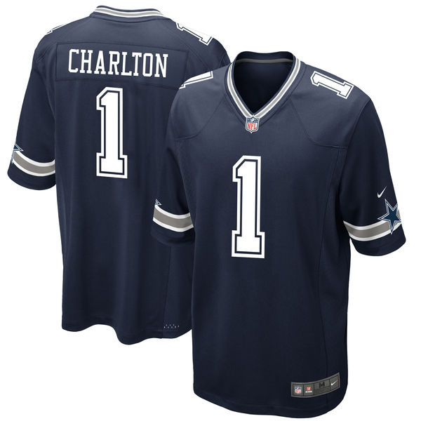 Nike Dallas Cowboys Taco Charlton Navy 2017 Draft Pick Elite Jersey