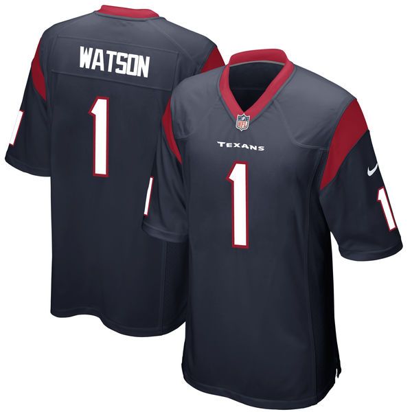 Nike Houston Texans Deshaun Watson Navy 2017 Draft Pick Elite Jersey