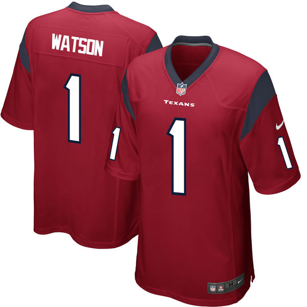 Nike Houston Texans Deshaun Watson Red 2017 Draft Pick Elite Jersey