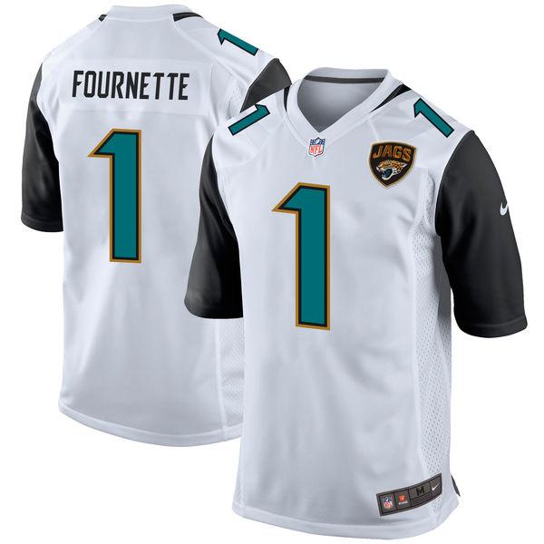 Nike Jacksonville Jaguars Leonard Fournette White 2017 Draft Pick Elite Jersey