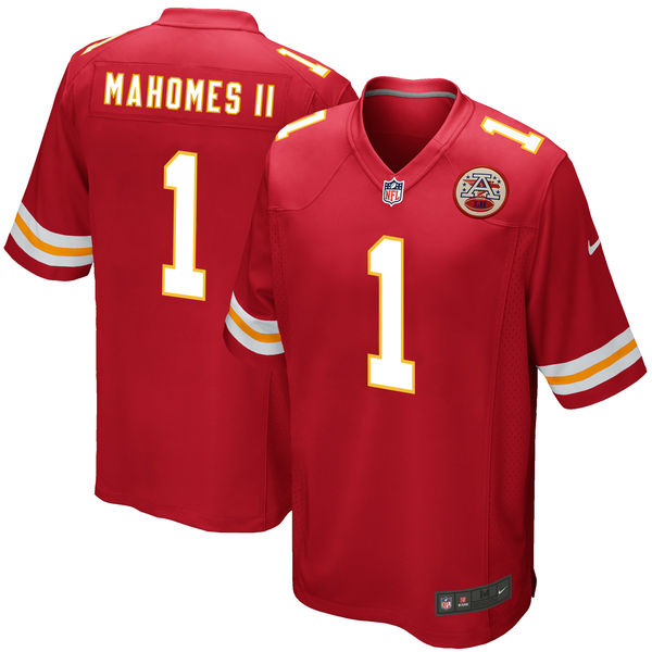Nike Kansas City Chiefs Patrick Mahomes II Red 2017 Draft Pick Elite Jersey