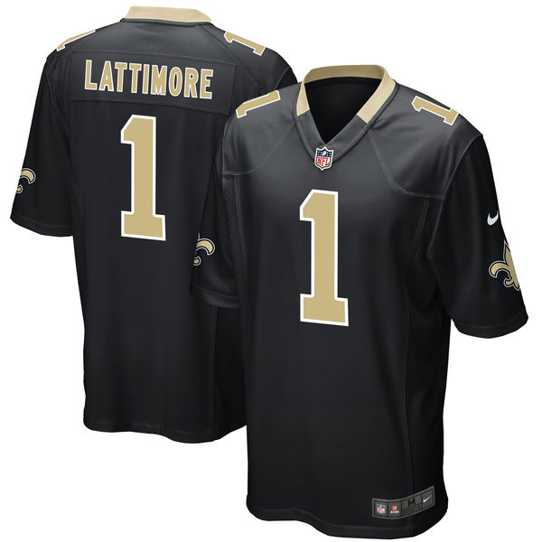 Nike New Orleans Saints Marshon Lattimore Black 2017 Draft Pick Elite Jersey