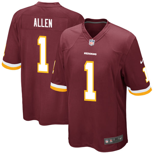 Nike Washington Redskins Jonathan Allen Burgundy 2017 Draft Pick Elite Jersey
