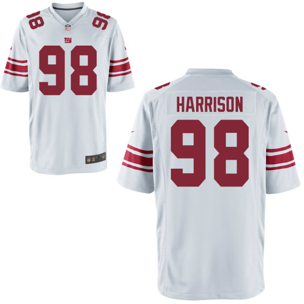 Nike Giants 98 Damon Harrison White Youth Game Jersey