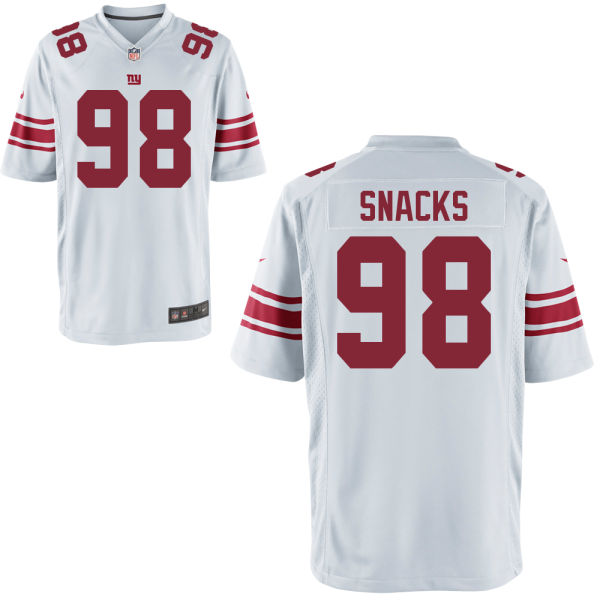 Nike Giants 98 Snacks White Youth Game Jersey