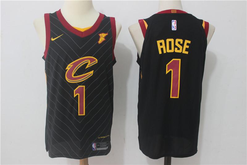 Cavaliers 1 Derrick Rose Black Nike Authentic Jersey