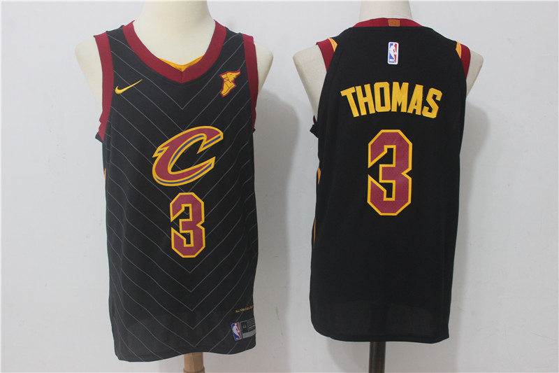 Cavaliers 3 Isaiah Thomas Black Nike Authentic Jersey