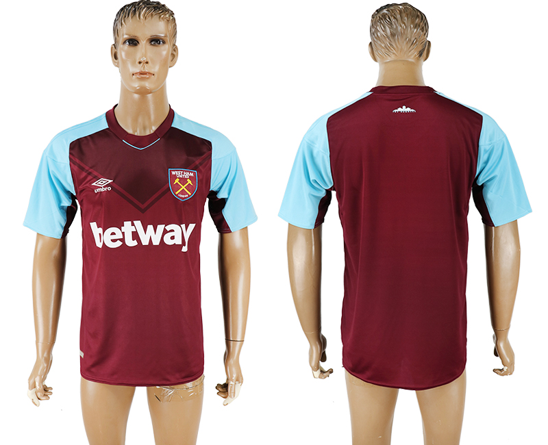 2017-18 West Ham United Home Thailand Soccer Jersey