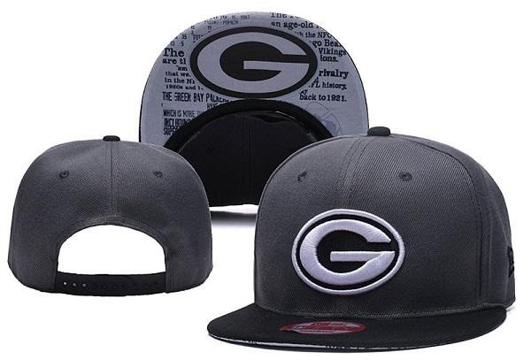 Packers Fresh Logo Gray Snapback Adjustable Hat