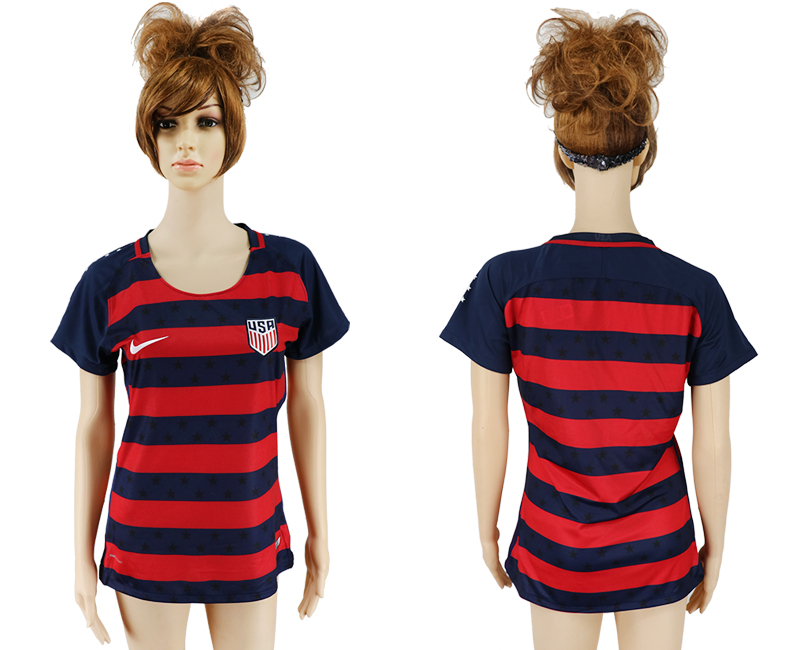 USA 2017 CONCACAF Gold Cup Away Women Soccer Jersey