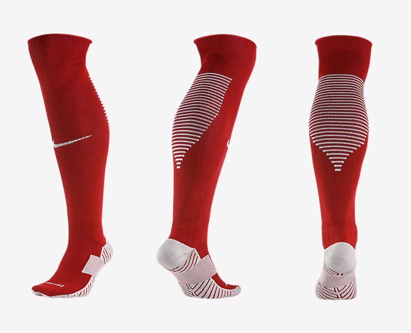 Nike Logo Red Thailand Soccer Socks