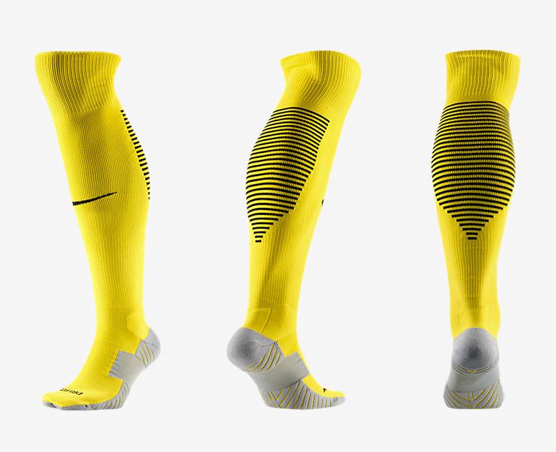 Nike Logo Yellow Thailand Soccer Socks