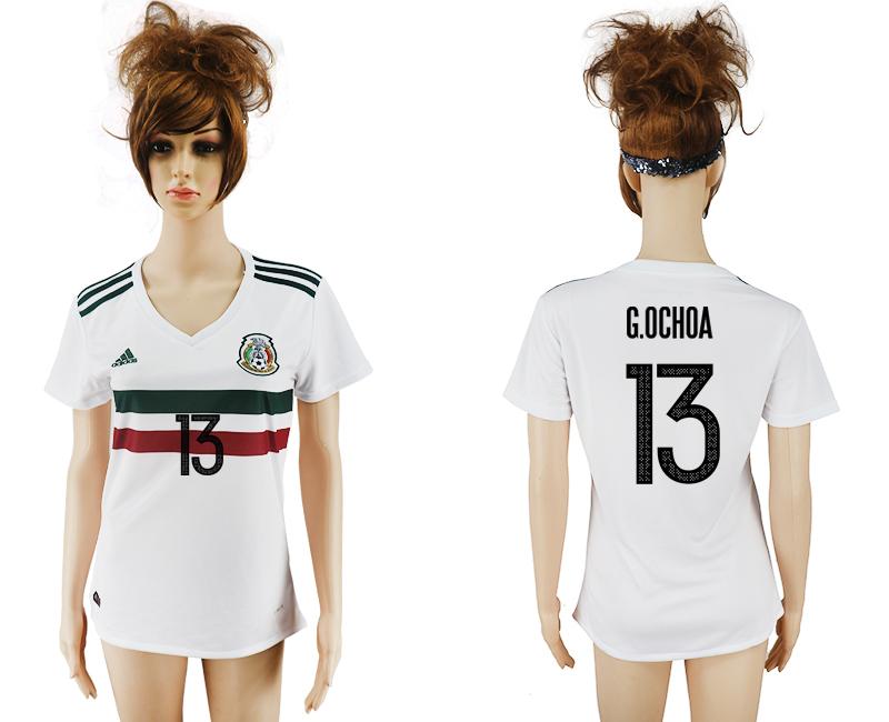 2017-18 Mexico 13 G.OCHOA Away Women Soccer Jersey