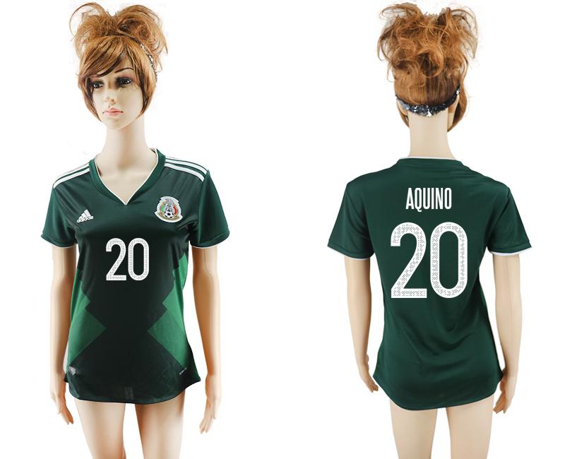 2017-18 Mexico 20 AQUINO Home Women Soccer Jersey
