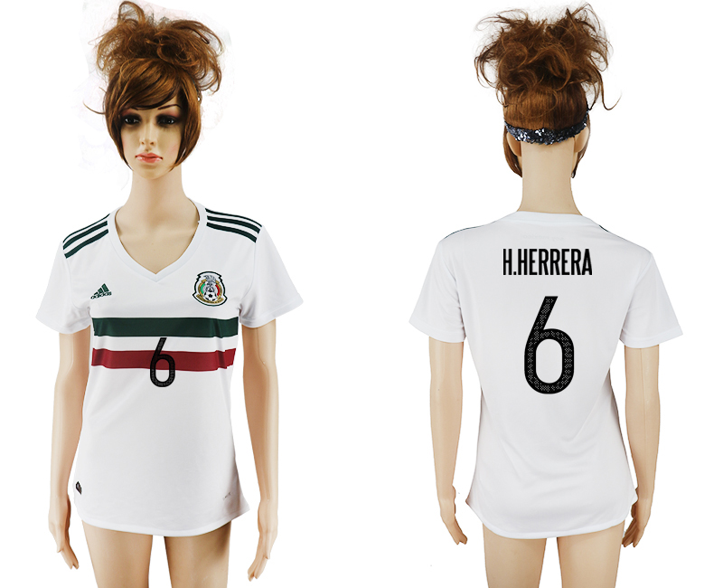 2017-18 Mexico 6 H.HERRERA Away Women Soccer Jersey