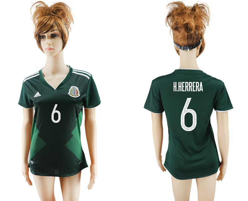 2017-18 Mexico 6 H.HERRERA Home Women Soccer Jersey