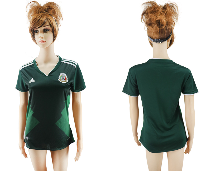 2017-18 Mexico Home Women Soccer Jersey