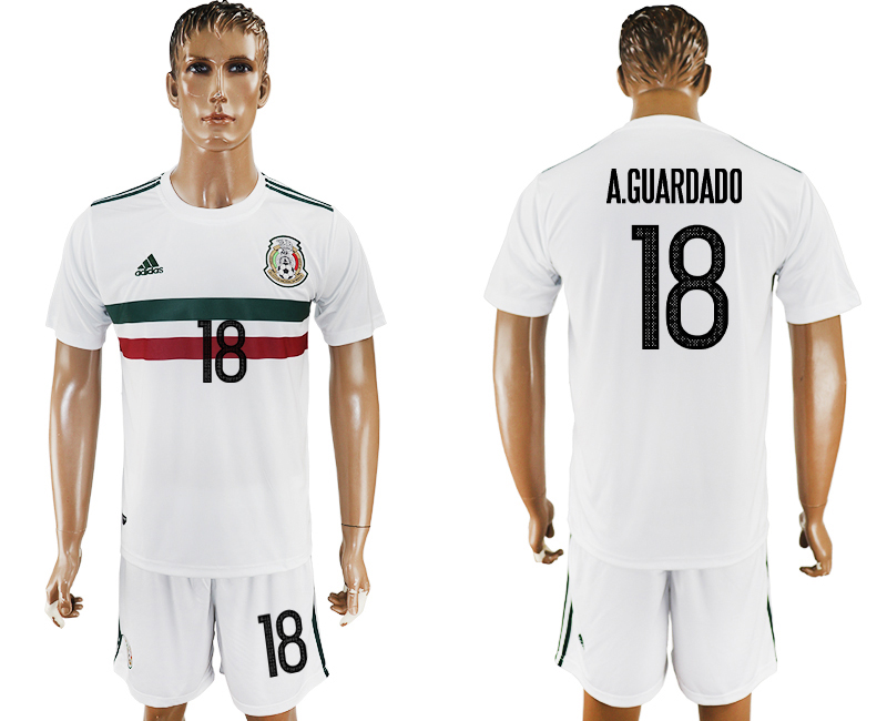 2017-18 Mexico 18 A.GUARDADO Away Soccer Jersey