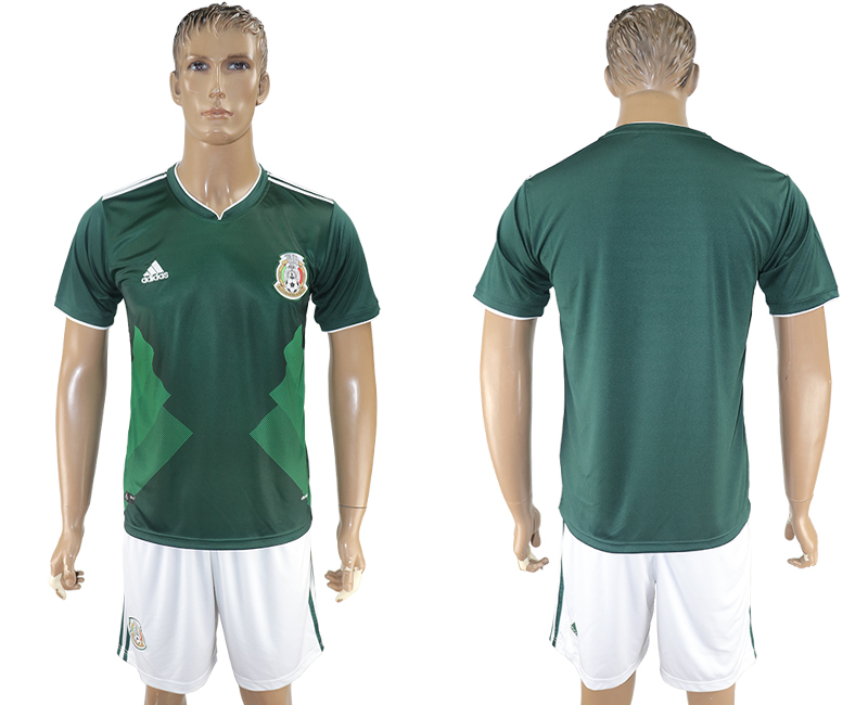 2017-18 Mexico Home Soccer Jersey