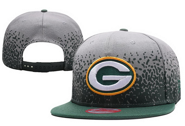 Packers Fresh Logo Gray With Green Paint Snapback Adjustable Hat