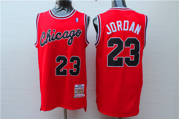 Bulls 23 Michael Jordan Red 1984-85 Hardwood Classics Jersey