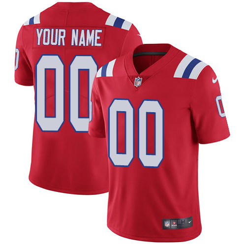 Nike Patriots Red Men's Customized Vapor Untouchable Player Limited Jersey