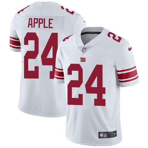 Nike Giants 24 Eli Apple White Vapor Untouchable Player Limited Jersey