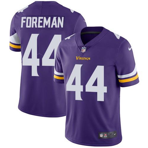 Nike Vikings 44 Chuck Foreman Purple Youth Vapor Untouchable Player Limited Jersey