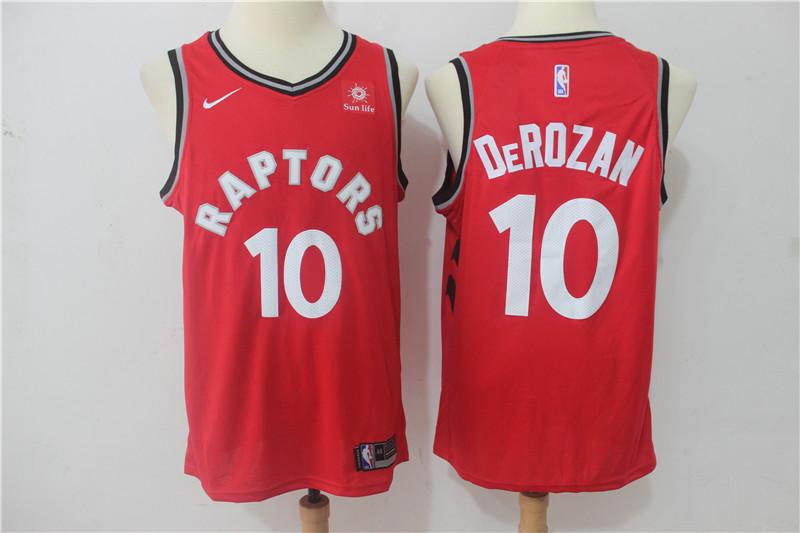 Raptors 10 DeMar DeRozan Red Nike Swingman Jersey