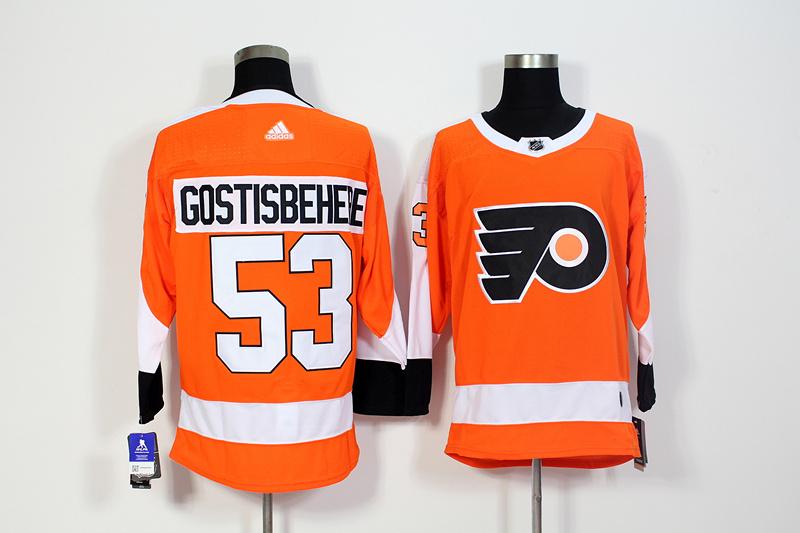 Flyers 53 Shayne Gostisbehere Orange Adidas Jersey