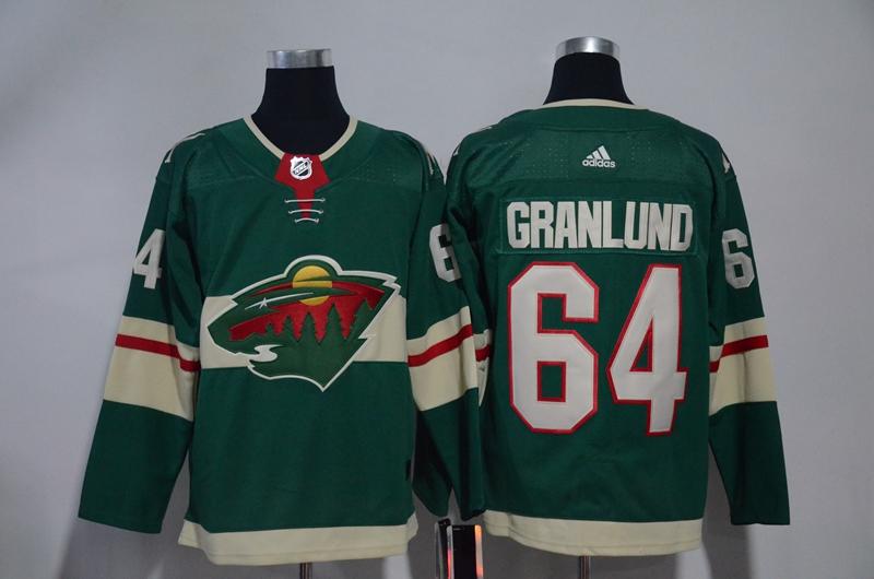 Wild 64 Mikael Granlund Green Adidas Jersey